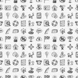Seamless doodle communication pattern. Vector illustration file Stock Photos