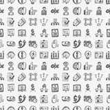 Seamless doodle communication pattern. Vector illustration file Royalty Free Stock Photo