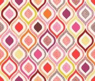 Seamless doodle dots ornament pattern. Seamless doodle dots colorful ornament pattern Royalty Free Illustration