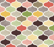 Seamless doodle dots ornament pattern. Seamless doodle dots colorful ornament pattern Stock Illustration