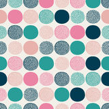 Seamless doodle dots pattern Stock Photo