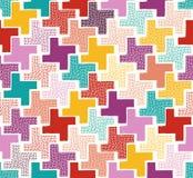Seamless doodle dots pattern. Seamless doodle dots tiles pattern Vector Illustration