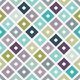 Seamless doodle dots rhombus pattern. Seamless doodle dots colorful rhombus pattern Vector Illustration