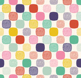 Seamless doodle dots sphere pattern Royalty Free Stock Photo
