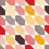 Seamless doodle dots tiles pattern. Seamless doodle dots colorful tiles pattern Vector Illustration