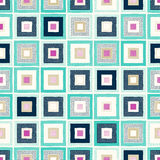 Seamless doodle dots square tiles pattern Stock Photography