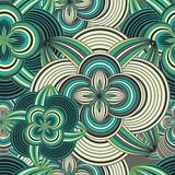 Seamless doodle ethnical flower background Royalty Free Stock Image