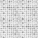 Seamless doodle financial pattern. Cartoon vector illustration Royalty Free Stock Photography