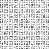 Seamless doodle financial pattern Royalty Free Stock Images