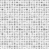 Seamless doodle fitness pattern Stock Images