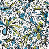 Seamless doodle floral background Royalty Free Stock Photography