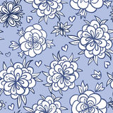 Seamless doodle floral background Stock Photo