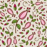 Seamless Doodle Floral Pattern Stock Photo