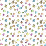 Seamless doodle floral pattern Stock Photography