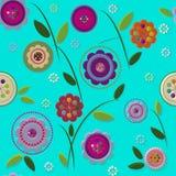 Seamless doodle flower. Background in vector vector illustration