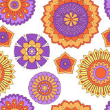 Seamless doodle flowers pattern Royalty Free Stock Photo