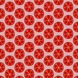 Seamless doodle grapefruit pattern Royalty Free Stock Images