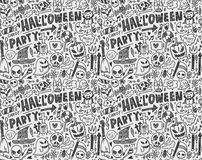 Seamless doodle halloween holiday background Stock Photography