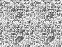 Seamless doodle halloween holiday background Stock Images