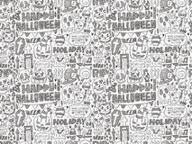 Seamless doodle halloween holiday background Royalty Free Stock Photos