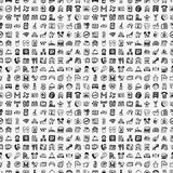 Seamless doodle hotel pattern Royalty Free Stock Photos
