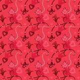 Seamless doodle love texture Royalty Free Stock Image