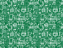 Seamless doodle media pattern Stock Photography