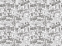 Seamless doodle medical pattern Stock Photography