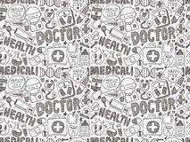 Seamless doodle medical pattern Royalty Free Stock Images