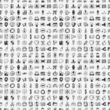 Seamless doodle network pattern Stock Images
