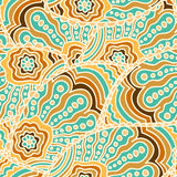Seamless doodle paisley pattern Stock Photos