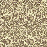 Seamless doodle pattern. A hand drawn seamless doodle pattern Royalty Free Stock Photography