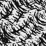 Seamless doodle pattern. Seamless brushpen doodle pattern grunge texture.Trendy modern ink artistic design with authentic and unique scrapes, watercolor blotted royalty free illustration
