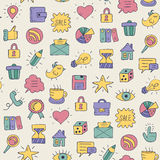 Seamless doodle pattern Royalty Free Stock Image