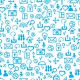 Seamless doodle pattern.  communication & internet textures vect. Seamless doodle web pattern.  communication & internet textures vector Royalty Free Stock Photos