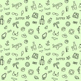 Seamless doodle pattern with elements of leisure Stock Photography