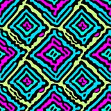 Seamless doodle pattern grunge texture.Trendy modern ink artisti Stock Photography