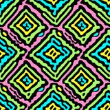 Seamless doodle pattern grunge texture.Trendy modern ink artisti Royalty Free Stock Images