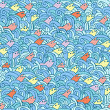 Seamless doodle pattern Stock Photography
