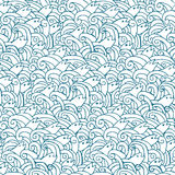 Seamless doodle pattern Royalty Free Stock Photos