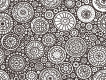 Seamless doodle pattern Stock Photos