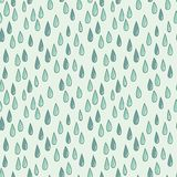 Seamless doodle pattern of raindrops Stock Photo