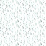 Seamless doodle pattern of raindrops Stock Photography