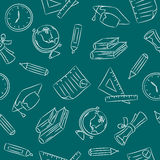 Seamless Doodle Pattern - School Royalty Free Stock Image