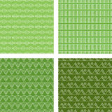 Seamless Doodle Pattern Set Lime Green Stock Image
