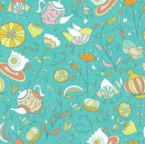 Seamless doodle pattern. Royalty Free Stock Photography