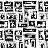 Seamless doodle pattern, textura and background Stock Photos