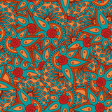 Seamless doodle pattern. Stock Image
