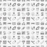Seamless doodle pet pattern Royalty Free Stock Photography