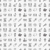 Seamless doodle pet pattern Royalty Free Stock Image